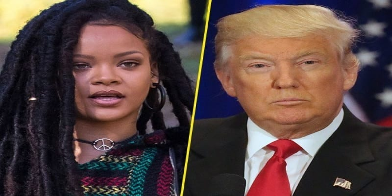 Photo de People : La chanteuse Rihanna en colère s'en prend à Donald Trump