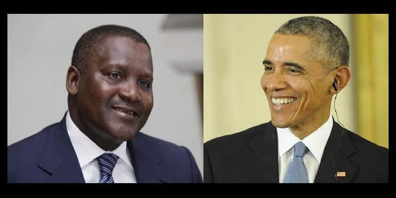 Photo de Aliko Dangote fait un important don à la fondation Barack Obama