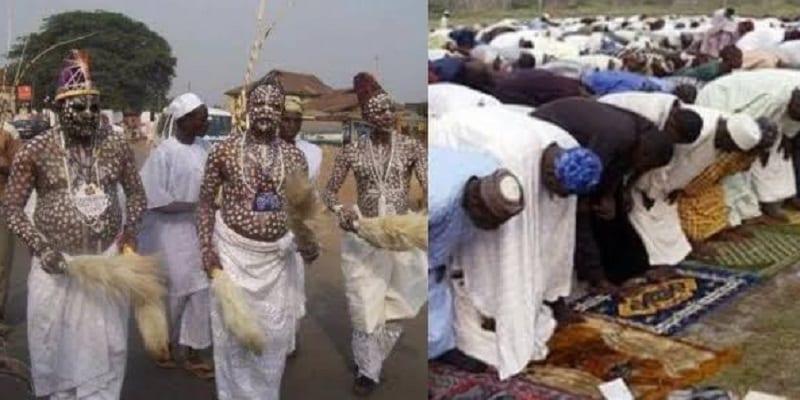 Photo de Nigeria: Des spiritualistes envahissent une mosquée, attaquent l'imam et la congrégation