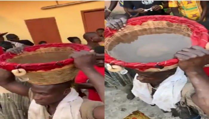 Insolite : un homme vaudou remplit un panier avec de l'eau sans ...
