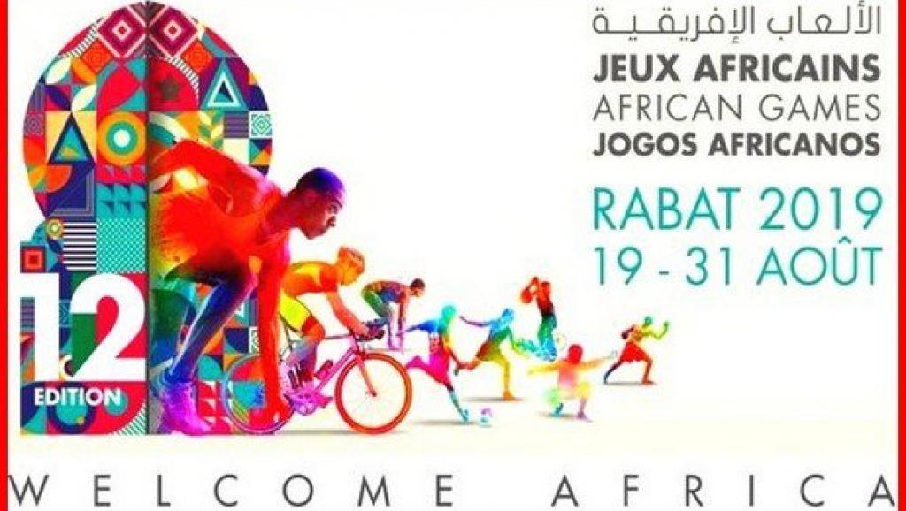Photo de Ouverture des jeux africains 2019 à Rabat au Maroc
