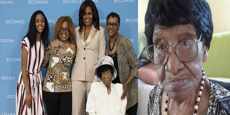 Photo de USA: Michelle Obama rencontre la petite-fille d'un esclave âgée de 111 ans