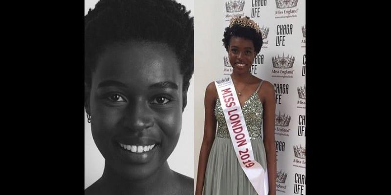 Photo de Miss Londres 2019: une Zimbabwéenne devient la première femme noire à être couronnée