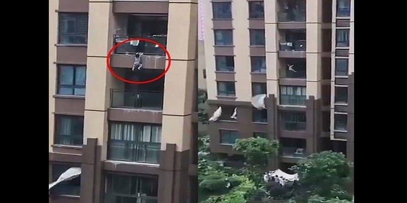 Photo de Chine : un enfant de 3 ans tombe du 6e étage d'un appartement (vidéo)