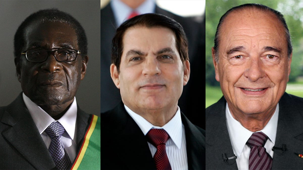 Mugabe, Ben Ali, Jacques Chirac