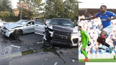 Photo de Le footballeur Jermain Defoe impliqué dans un accident de voiture en Ecosse