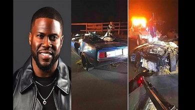 Photo de L'acteur américain Kevin Hart victime d'un accident grave de circulation