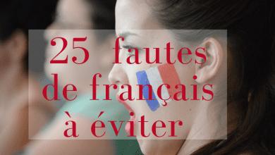Photo de 25  fautes de français à éviter