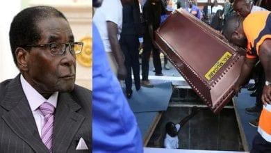 Photo de Zimbabwe: Robert Mugabe enterré dans un cercueil en acier recouvert de béton… la raison!