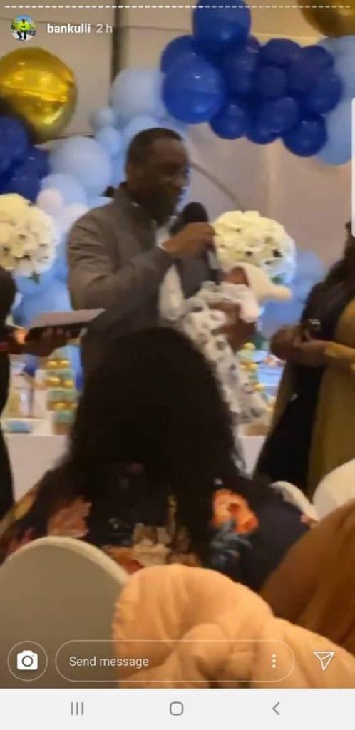 Vivez en images la cérémonie de baptême du fils de Davido et Chioma (photos)