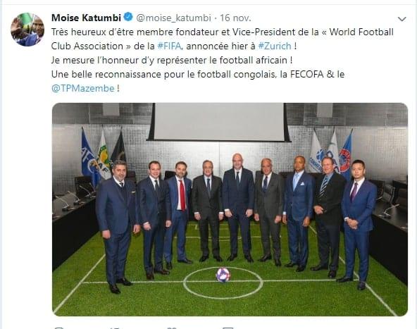 Après son échec en politique, Moïse Katumbi est nommé à la FIFA