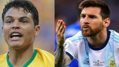 Photo de Brésil-Argentine: Thiago Silva s'en prend à Lionel Messi et critique l'arbitrage