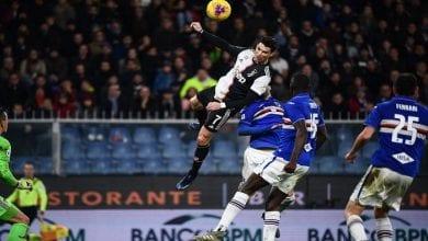 Photo de Ronaldo surpris par son saut de 2,56 m pour inscrire le but de la victoire contre Sampdoria, réagit!