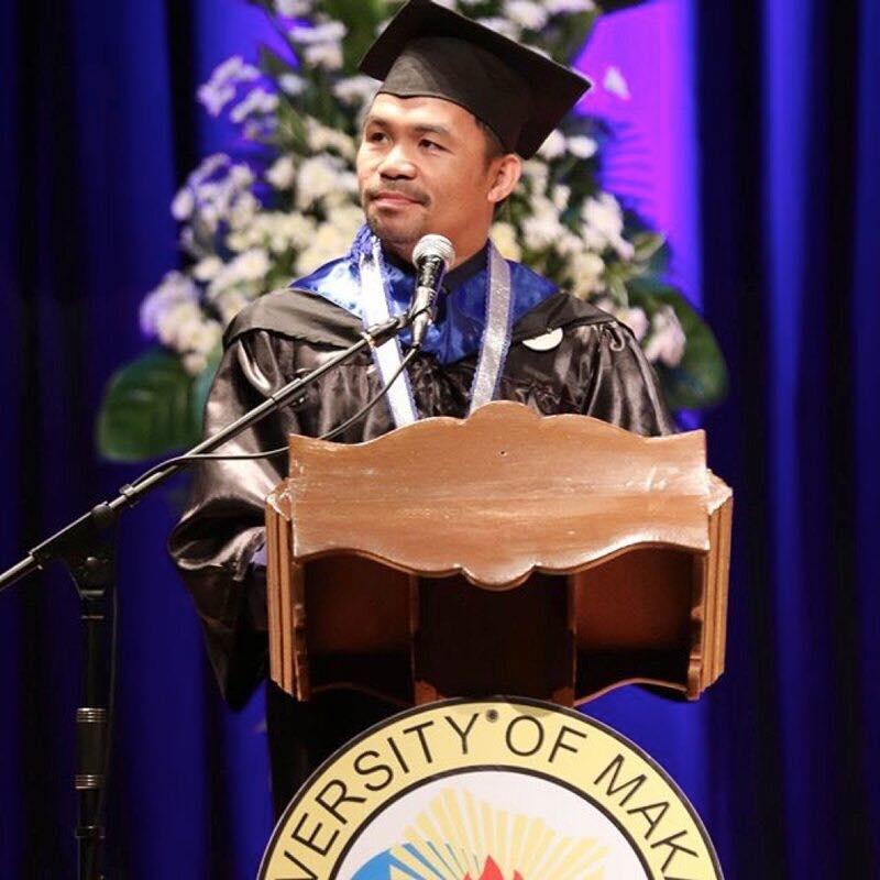 Boxe: Manny Pacquiao est diplômé en sciences politiques