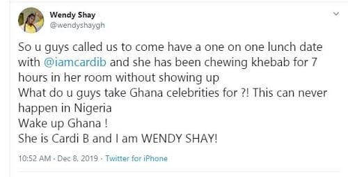 La rappeuse américaine Cardi B suscite le courroux de ses fans — Ghana