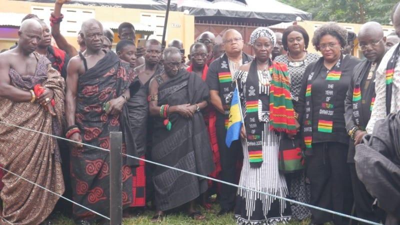 Les restes d'un esclave asservi à la Barbade enterré au Ghana