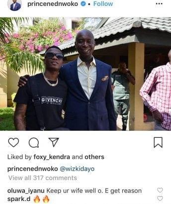 « Garde ta femme loin de Wizkid », un fan met en garde Ned Nwoko