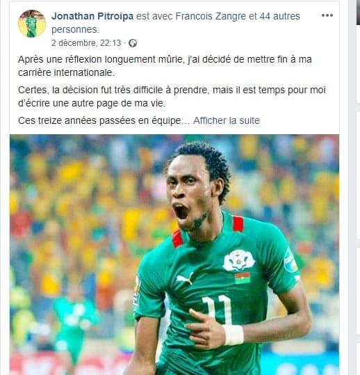 Sport : le footballeur Jonathan Pitroipa prend sa retraite internationale