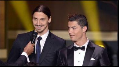 "Photo de Ibrahimovic tacle Cristiano Ronaldo:  ""Le vrai Ronaldo, c'est le Brésilien"""