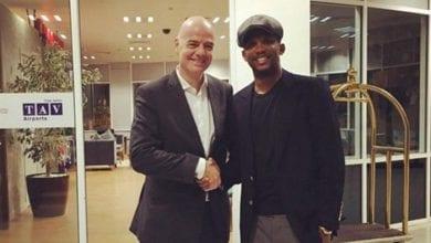 Photo de Gianni Infantino:        «Arrêtez d'appeler Samuel Eto'o la légende africaine»