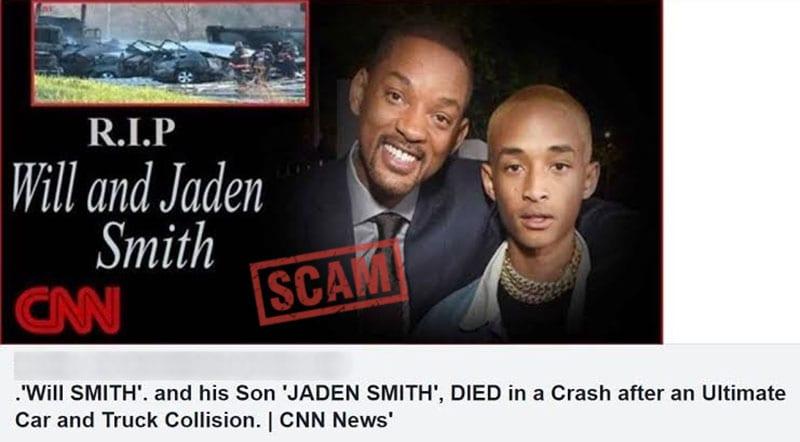 Will Smith et son fils morts dans un accident de voiture ? ce qui se cache derrière cette rumeur qui affole la toile (photo)