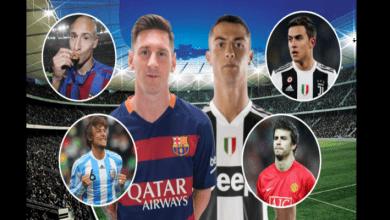 Photo de Découvrez 12 footballeurs qui ont joué aux côtés de Messi et Cristiano Ronaldo (photos)
