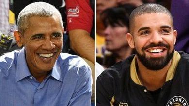 Photo de Quand Drake tombe sur une surprise de Michelle et Barack Obama