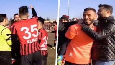 Photo de Turquie/Football: scène surréaliste, l'arbitre fait tirer trois fois un penalty et expulse le gardien-(Vidéo)