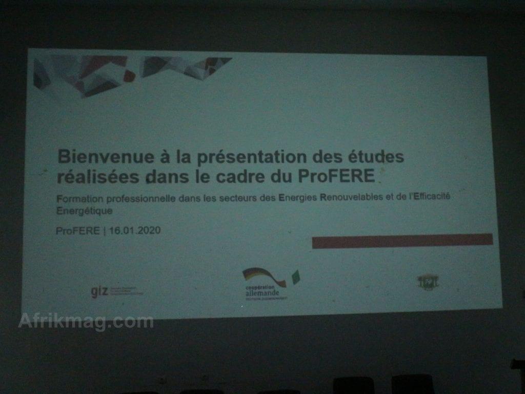 Coopération Côte d'Ivoire Allemagne : Présentation des résultats du projet ProFERE à Abidjan