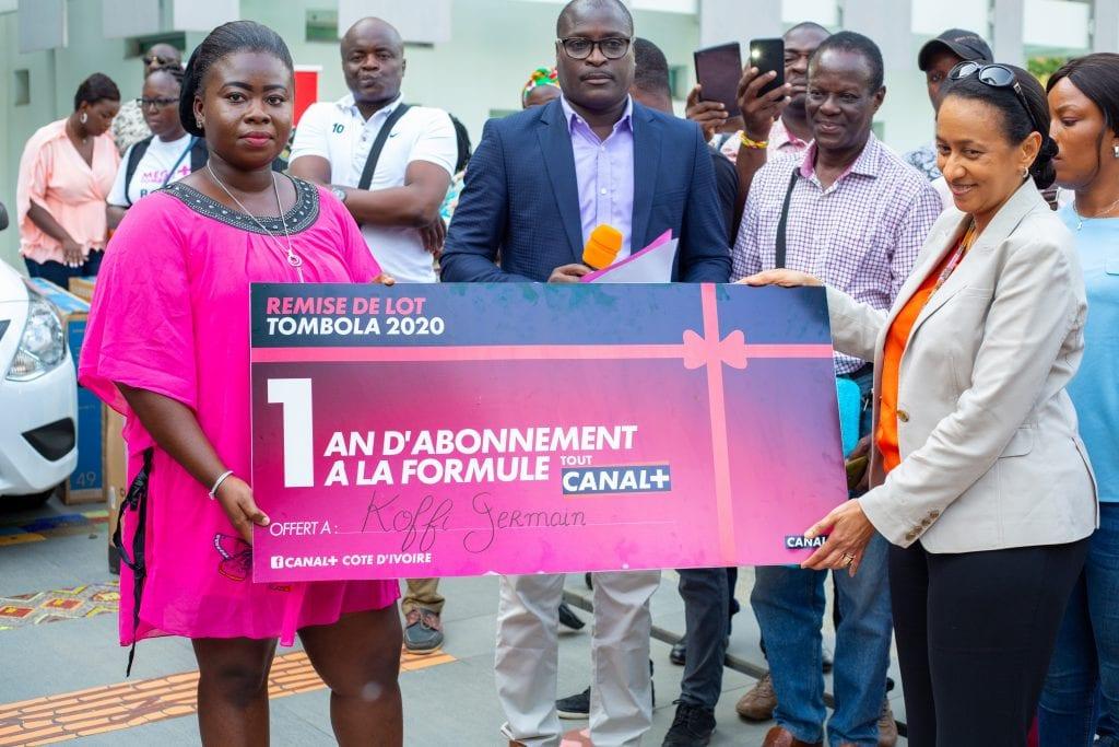 Canal + Côte d'Ivoire fait des heureux à travers sa Tombola
