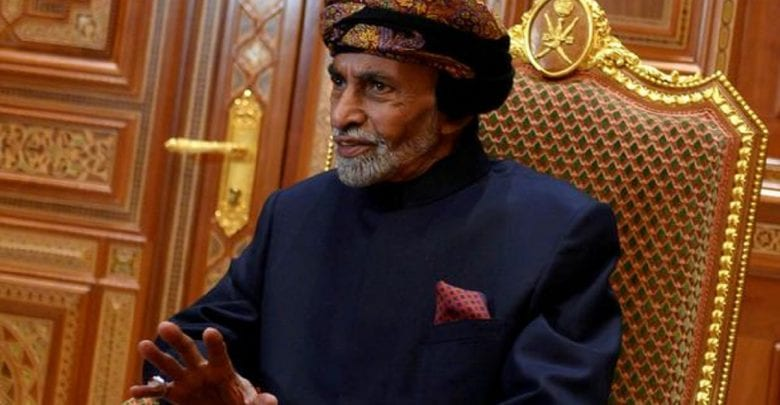 FILE PHOTO: Sultan of Oman Qaboos bin Said al-Said at the Beit Al Baraka Royal Palace in Muscat