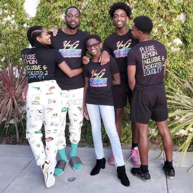 Le basketteur Dwayne Wade soutient son fils de 12 ans qui veut devenir une fille (photos)
