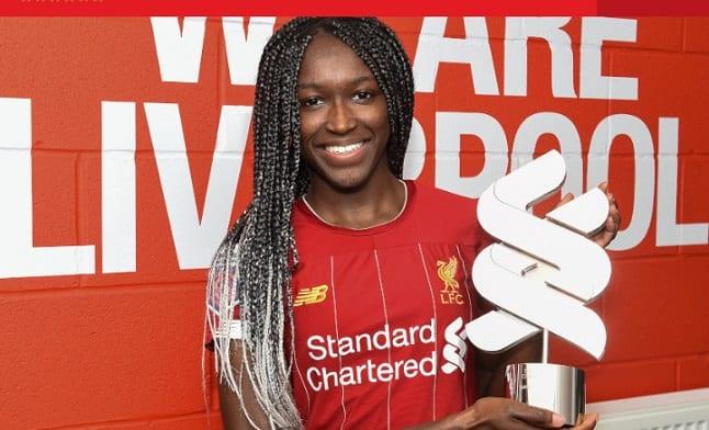 Une Nigériane remporte le prix de Joueuse du mois de l'équipe féminine de Liverpool