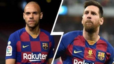 """Photo de Braithwaite: """"Si le football était une religion, Messi pourrait être Dieu"""""""