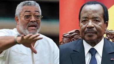 Photo de Jerry Rawlings furieux contre Paul Biya, demande une intervention militaire au Cameroun