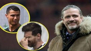 """Photo de Emmanuel Petit:""""Messi n'est pas Ronaldo, il est trop faible pour la Premier League"""""""