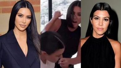 Photo de Kim K frappe sa sœur Kourtney au visage lors d'une dispute: Vidéo
