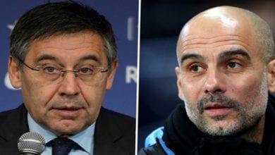 Photo de Affaire UEFA-Man City: Pep Guardiola répond sèchement au président du Barça