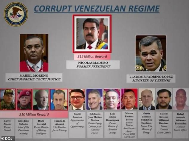 Venezuela: 15 millions $ pour la tête du président Maduro...Il répond amèrement à Trump!