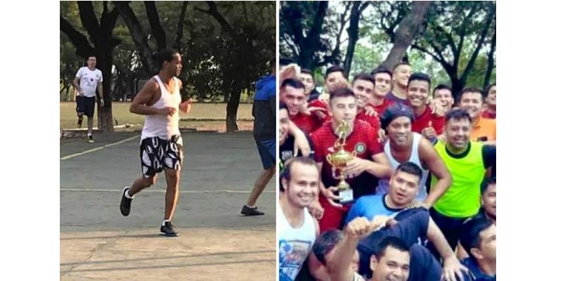 Incarcéré au Paraguay, Ronaldinho remporte un tournoi de foot... en prison !