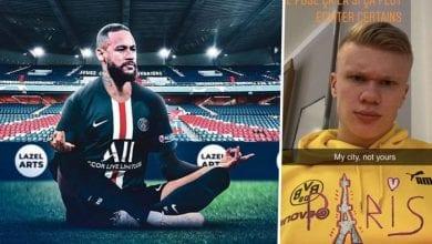 Photo de Ligue des champions:  Haaland répond à Neymar et ses coéquipiers du PSG