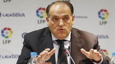 Photo de Javier Tebas le président de la Liga annonce le pire pour 2021