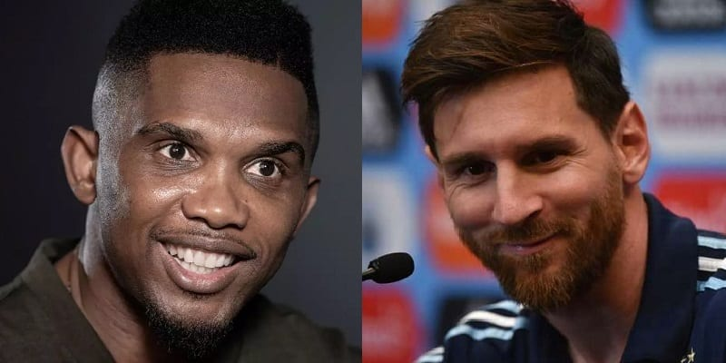 wage cut confirmed by Messi, Eto'o reacts