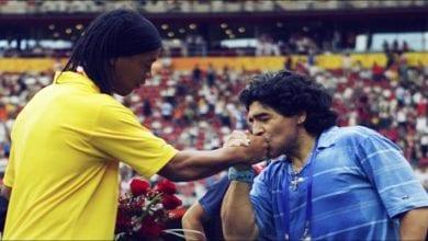 "Photo de Football: Maradona à propos de Ronaldinho""Ce n'est pas un criminel"""