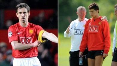Photo de Ronaldo: Neville révèle pourquoi Sir Alex Ferguson a refusé qu'il soit capitaine à Man U