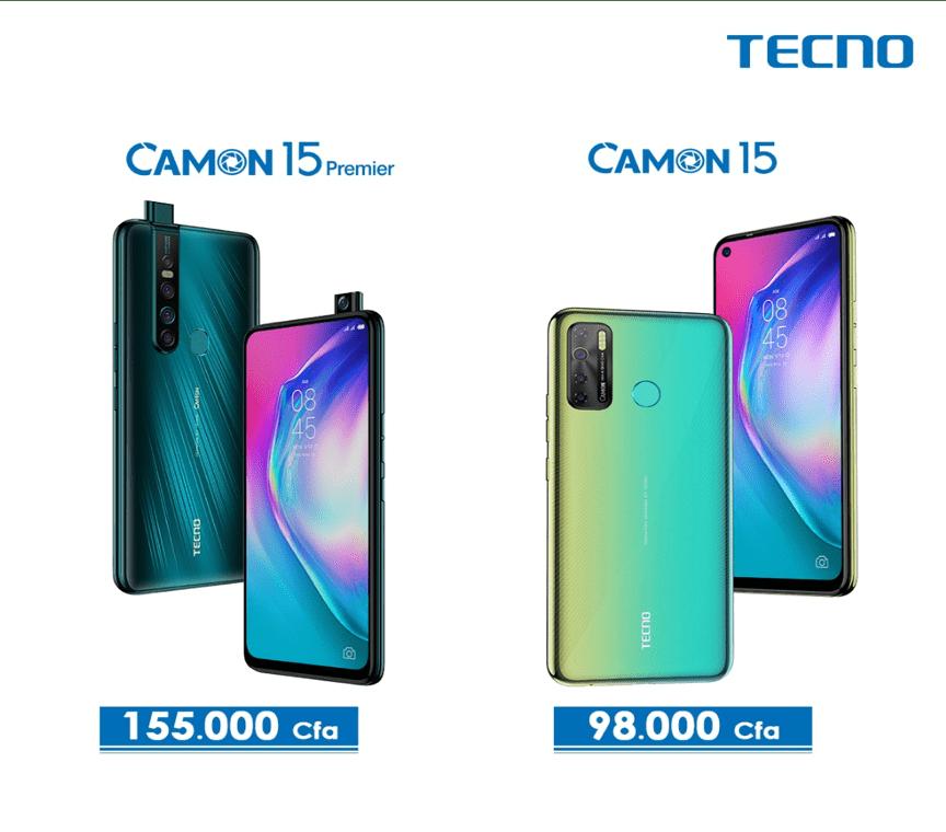 Tecno Mobile : C'est officiel !!! La serie des Camon 15 débarque avec leur lentille SONY et leur INCOMPARABLE Technologie TAIVOS ™