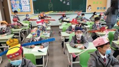"""Photo de Reprise des cours: la Chine prend une étrange mesure pour faire respecter """"la distanciation sociale"""""""