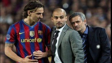 Photo de Mourinho révèle enfin ce qu'il avait soufflé à l'oreille de Guardiola lors du match Barça-Inter en 2010