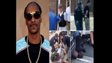 Photo de Snoop Dogg montre la différence entre les arrestations de meurtriers blancs et celle des hommes noirs non armés