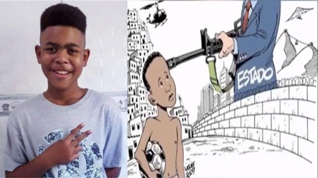 Brésil : un garçon de 14 ans tué par la police, plus de 70 traces de coups de feu retrouvées sur le lieu de l'incident (photos)